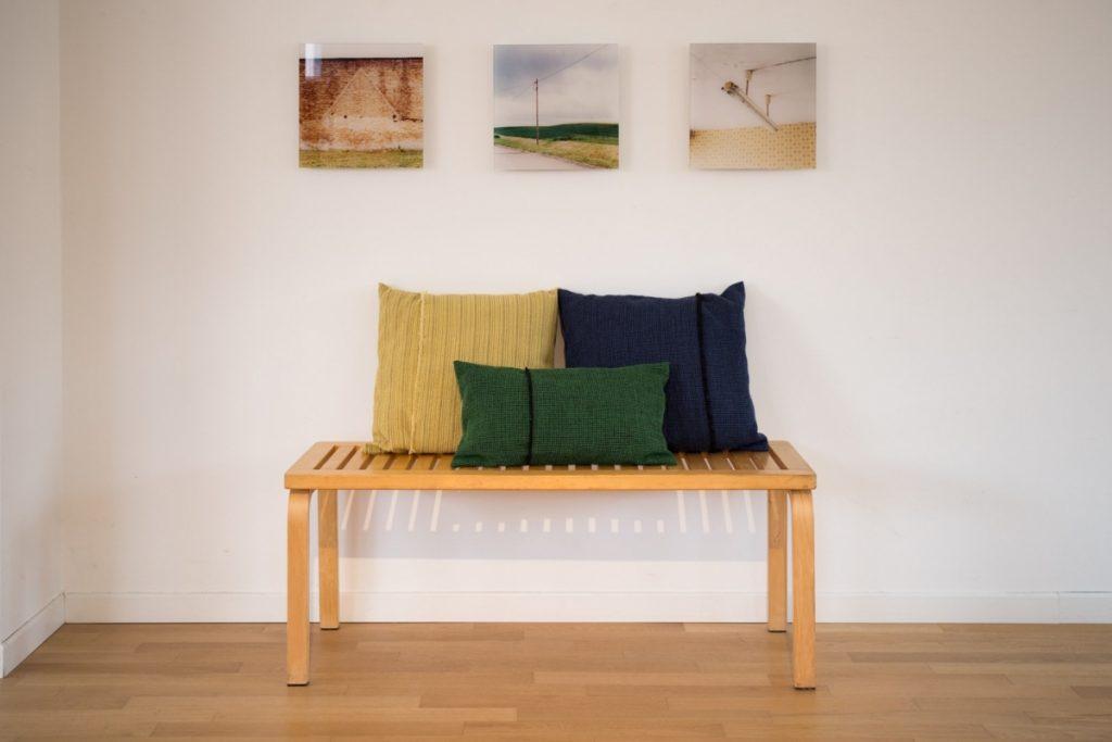 Mourne textiles- cuscini in lana Irlandese , a telaio