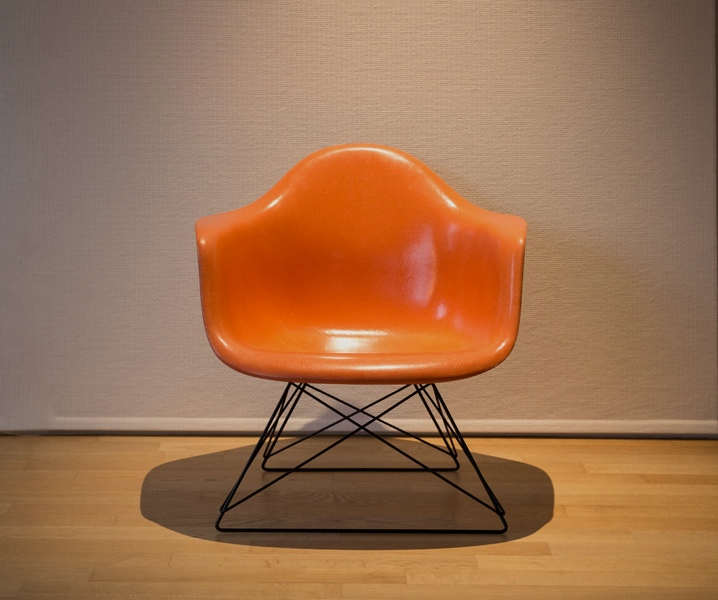 Armchair orange cat's Cradle – C. & R. Eames