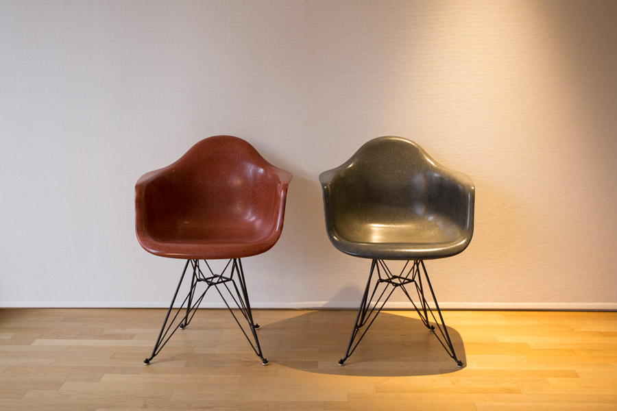 Armchairs with eiffel base- Charles and Ray Eames