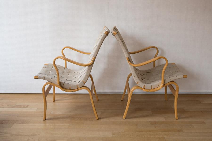 """"""" Eva """" easy chairs by Bruno Mathsson – cod. 1000"""
