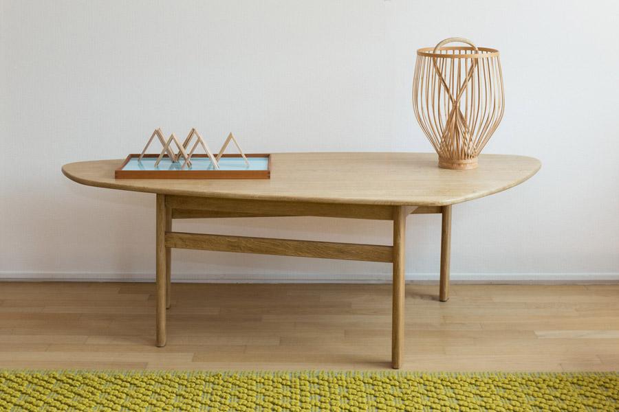Coffee table stondato in rovere – Cod. 1163