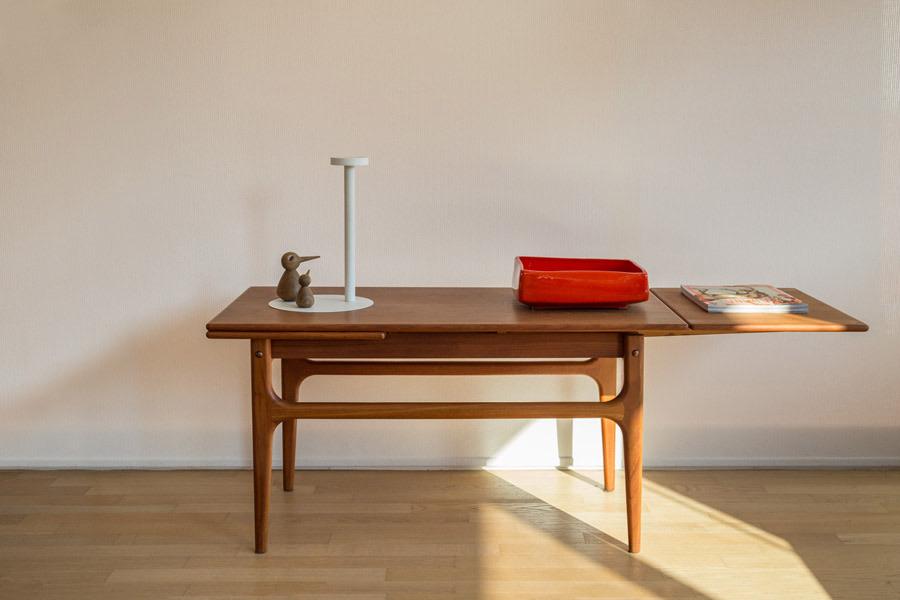 Coffee table in teak , con allunghi – Cod. 1040