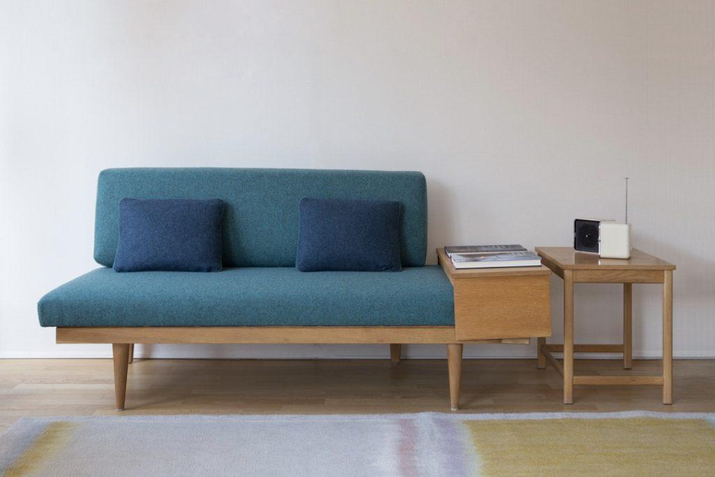 Oak sofa structure and Kvadrat cushions