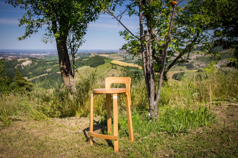 Alvar Aalto stool , Mod. K65 – Cod.1278